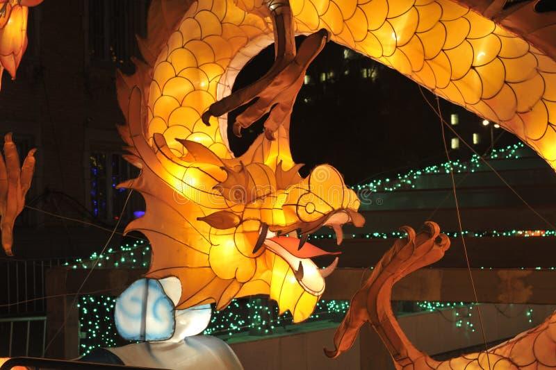 Dragon lantern. 2014, shenyang shengjing Lantern Festival lasted for ten days, Lantern Festival, temple fair performance will be in shenyang three street opened royalty free stock photos