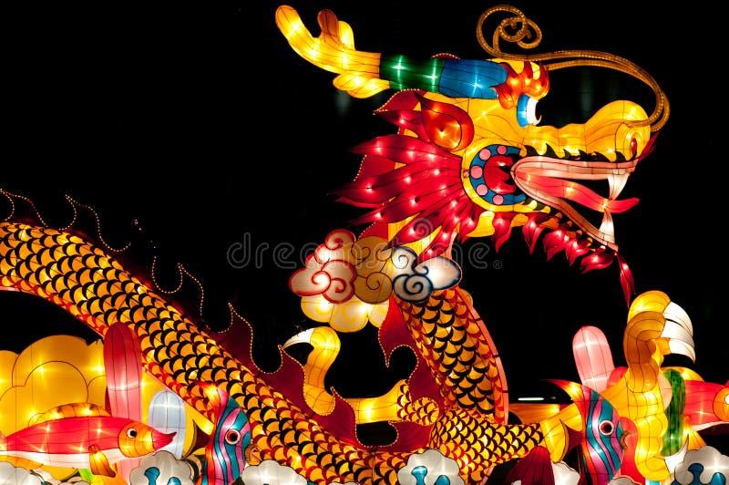 Dragon Lantern at Singapore Lantern Festival royalty free stock photography