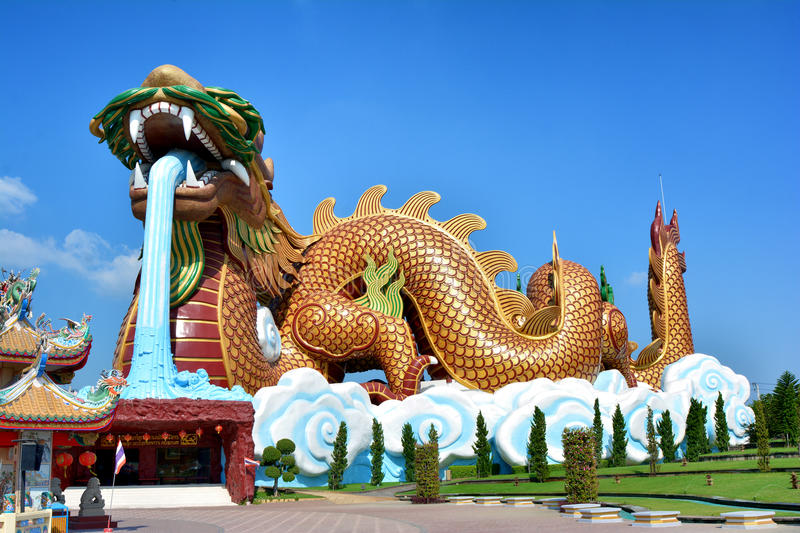 Dragon A large statue of a tourist center. stock photos