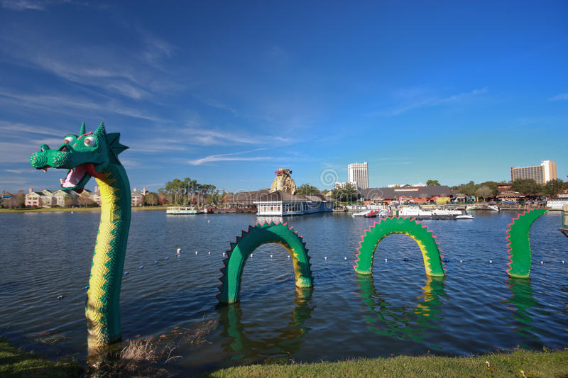Download Dragon At Lego Zone Of Downtown Disney Editorial Image - Image: 23330355