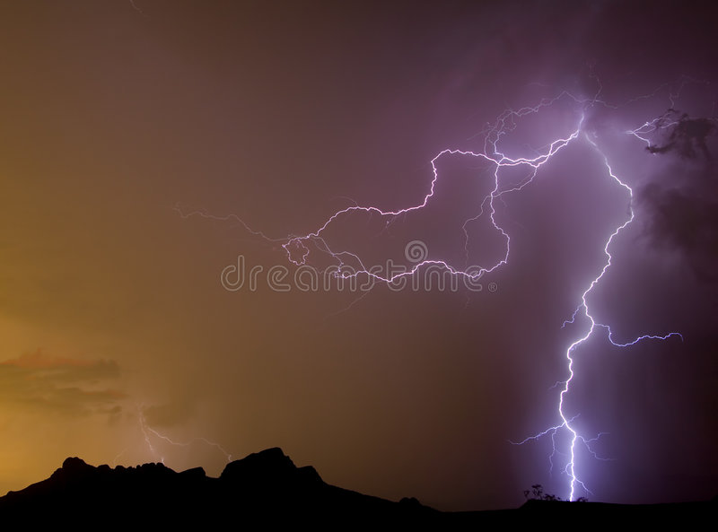 Dragon Lightning Royalty Free Stock Images