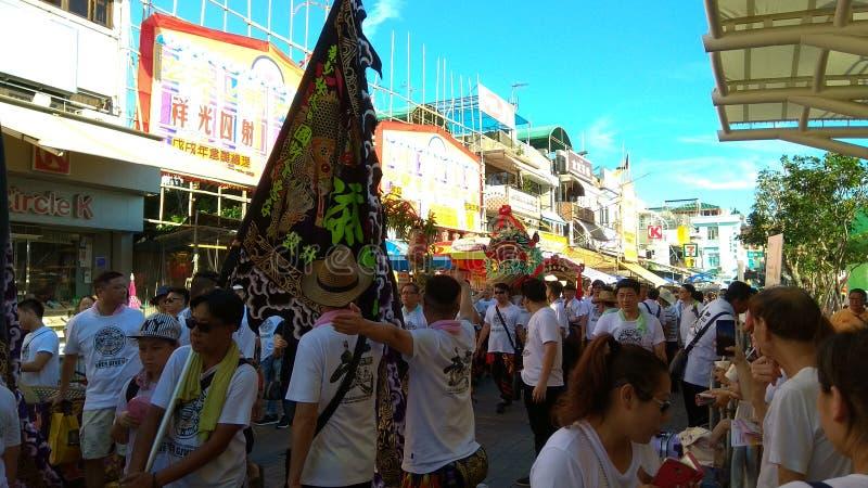 Cheung Chau Da Jiu Festival, Hong Kong stock photography