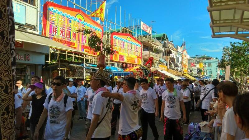 Cheung Chau Da Jiu Festival, Hong Kong stock photos