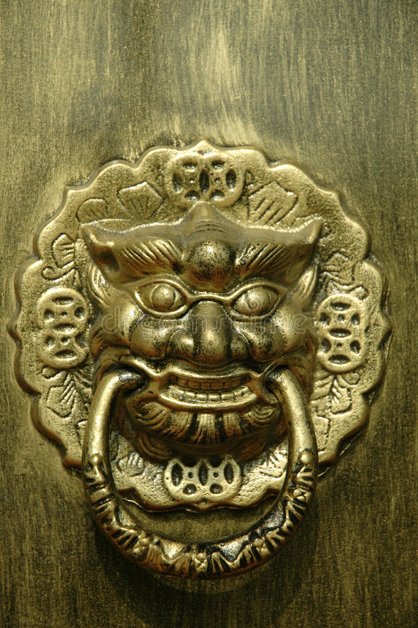Dragon or Lion Doorway royalty free stock photos