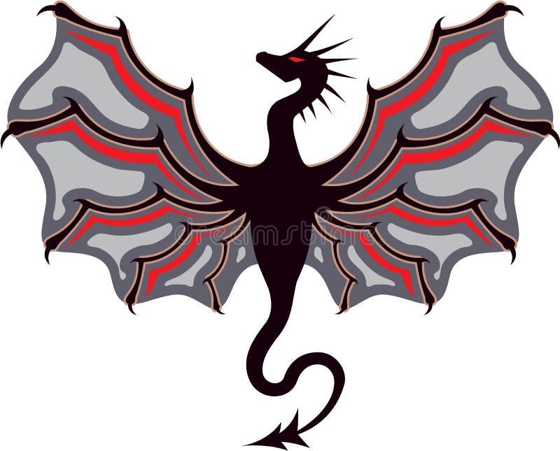 Dragon Logo ilustração do vetor