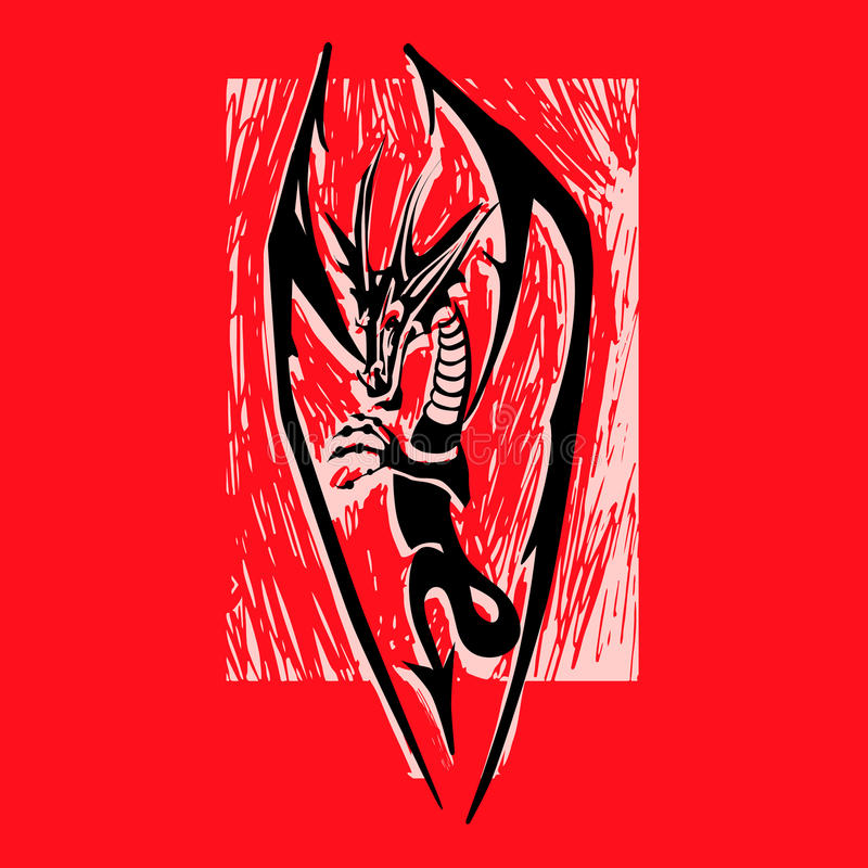 Dragon Logo royaltyfri illustrationer
