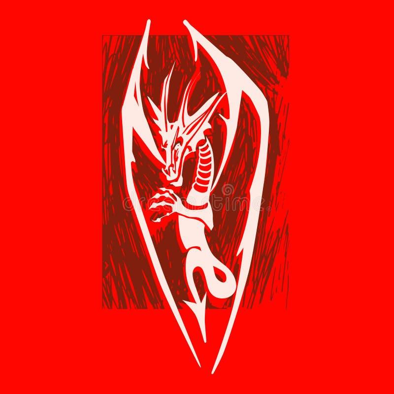 Dragon Logo vektor illustrationer