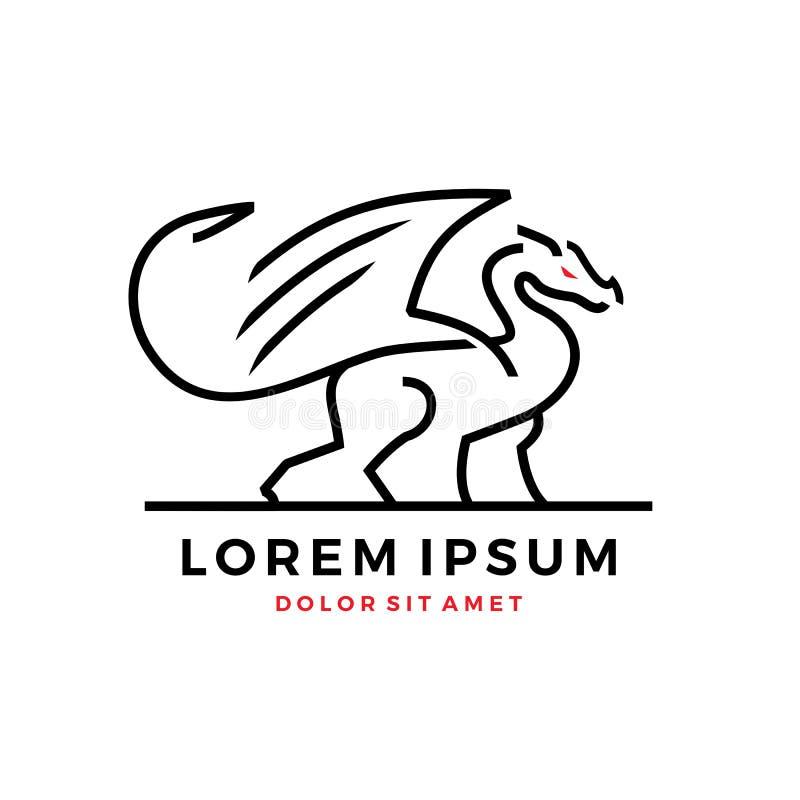 Dragon Logo illustration stock