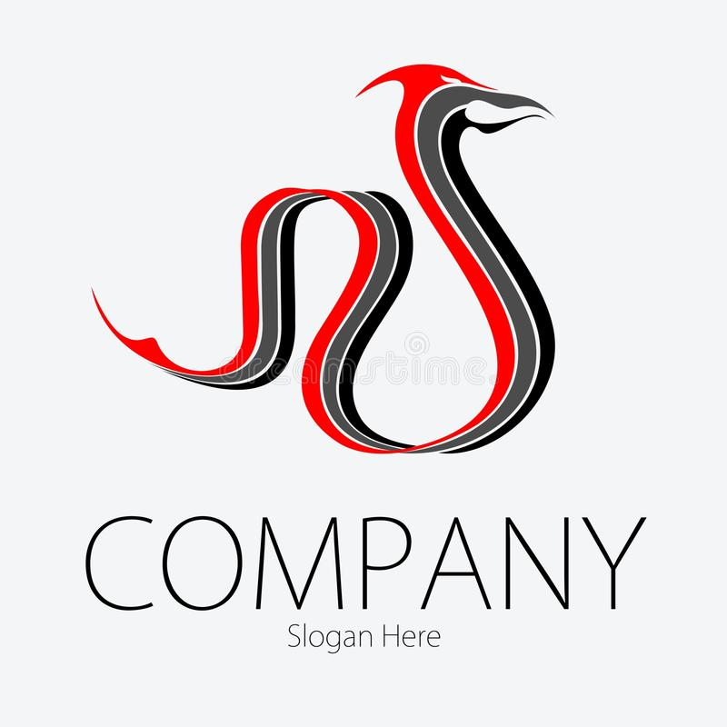 Dragon Logo Vetora vermelho fotografia de stock