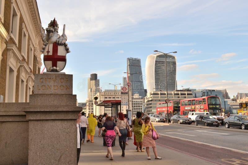 dragon Londres de ville photographie stock libre de droits