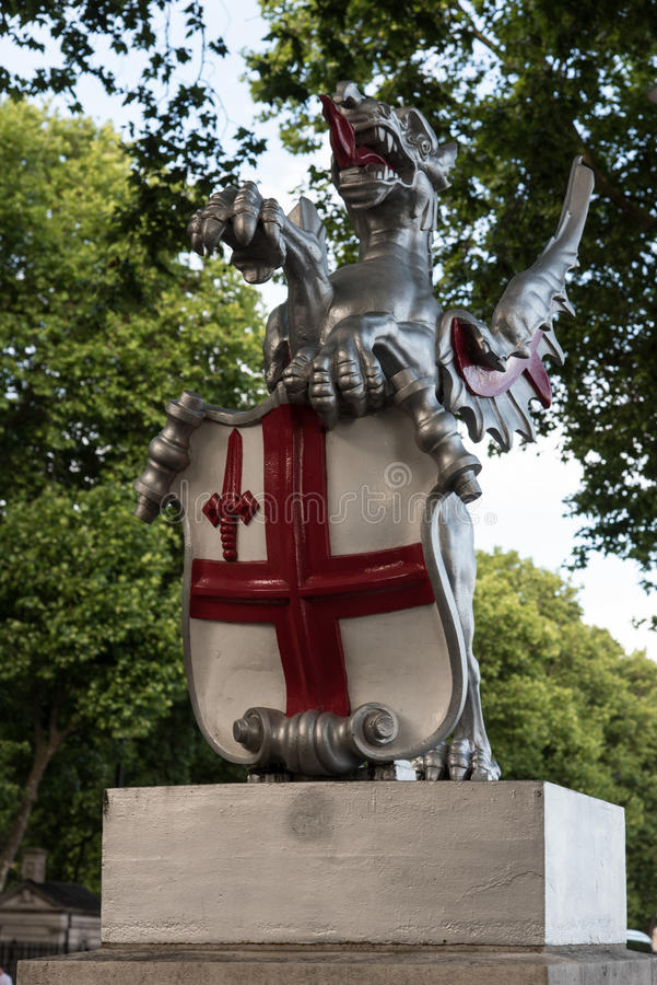 dragon Londres de ville image libre de droits