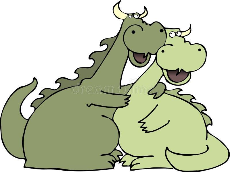 Dragon love royalty free illustration