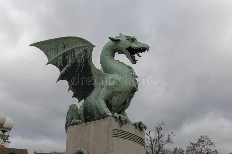 The dragon in Lubiana royalty free stock images