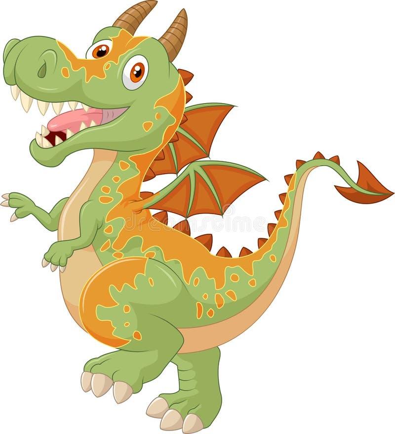 Dragon mignon de bande dessinée illustration de vecteur