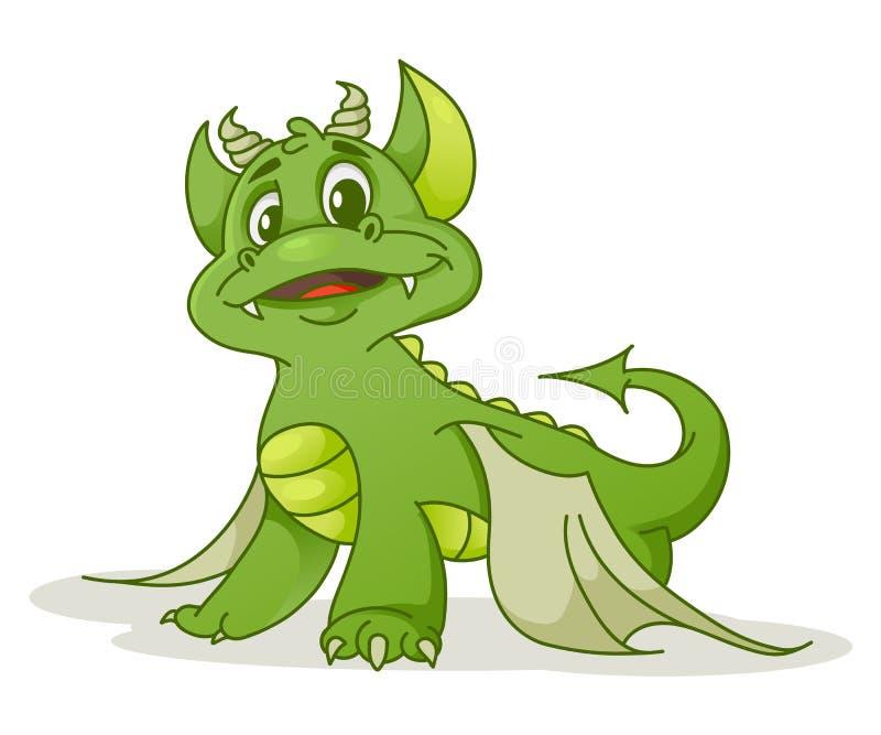 Dragon mignon de bande dessinée illustration stock