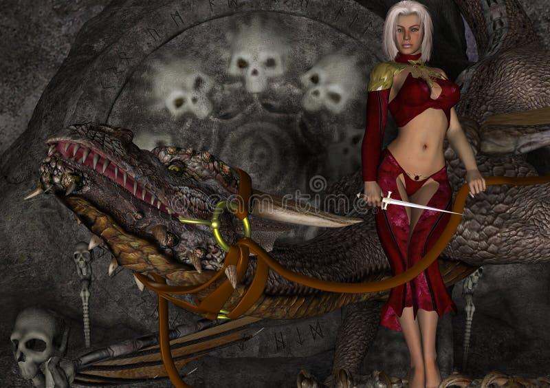 Download Dragon Mistress ilustração stock. Ilustração de mulher - 80102144