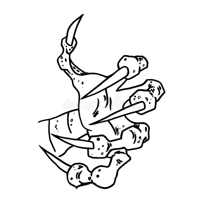 Dragon Or Monster Paw Stock Illustration Illustration Of Halloween