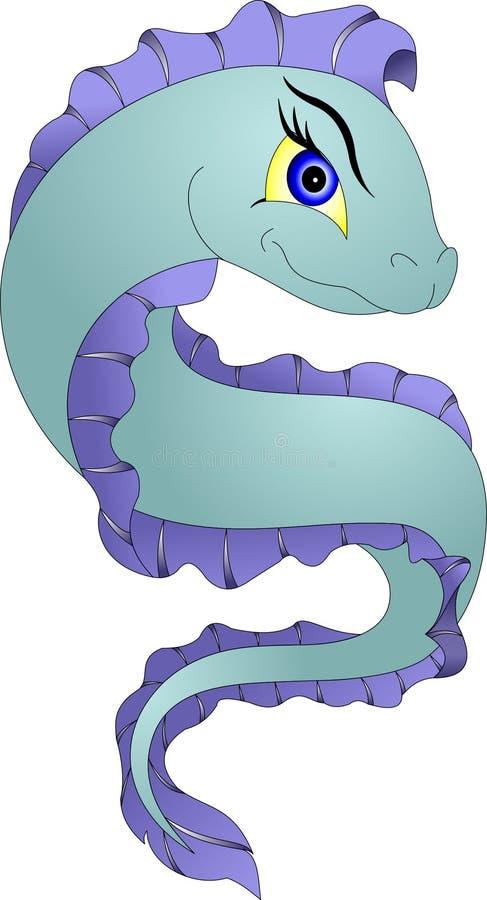 Dragon Moray en Sneeuwvlok Moray royalty-vrije illustratie