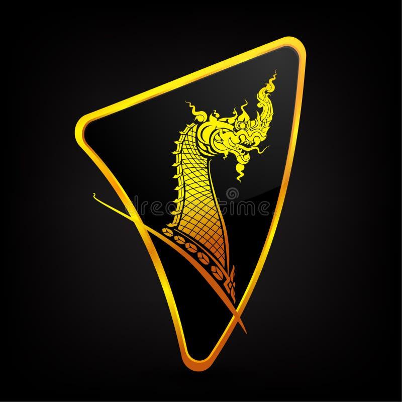 Dragon Naga thaïlandais image stock