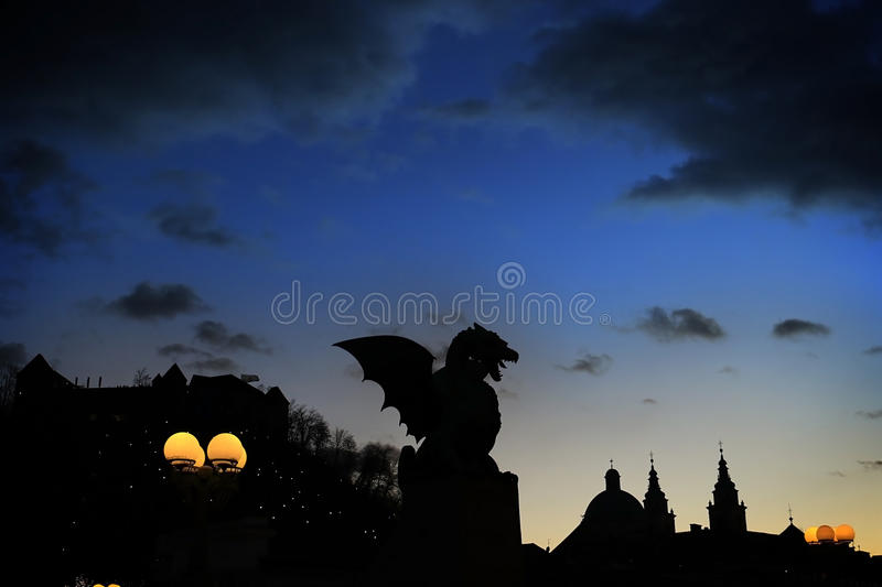 Dragon of the Night stock images