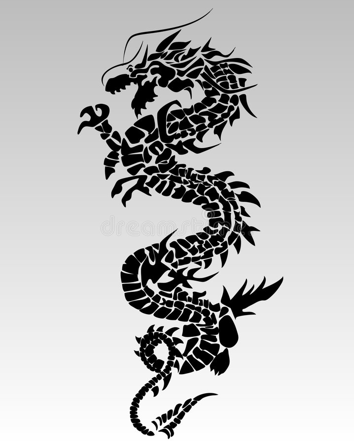 Dragon noir illustration stock