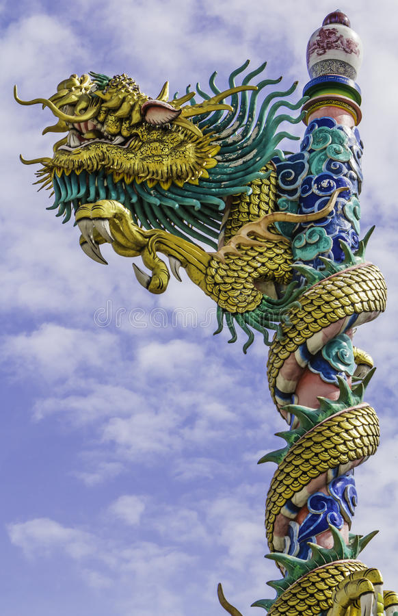 Free Dragon On Roof At Chinese Temple,thailand Stock Photos - 25707163