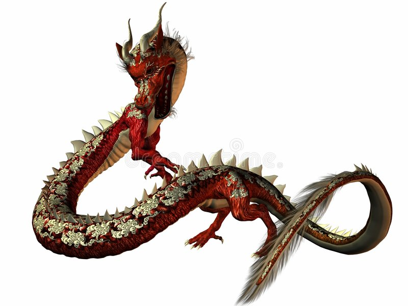 Dragon oriental illustration stock