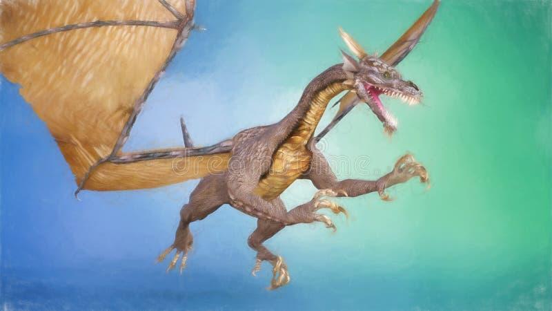 Dragon Painting royalty free stock image