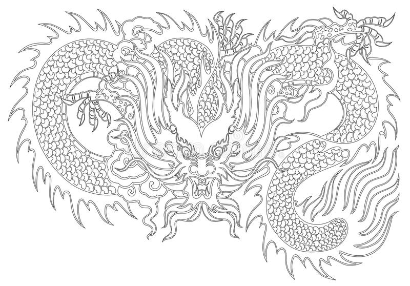 Dragon painting vector illustration