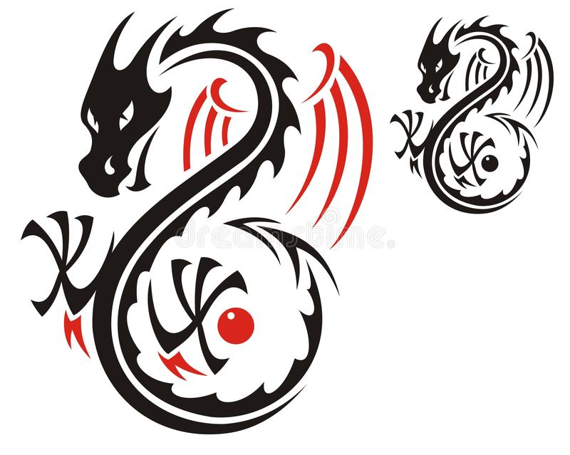 Download Dragon pattern stock vector. Illustration of font, drawing - 20170911