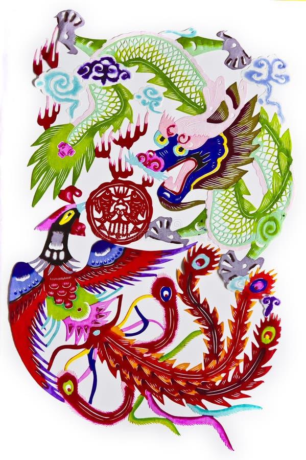 dragon phoenix vector illustration