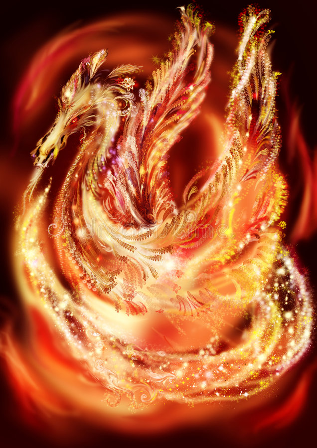 Dragon-Phoenix, illustration stock