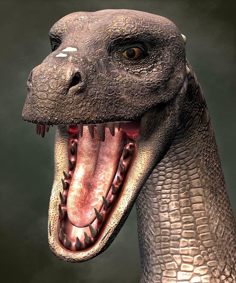 Dragon Portrait 3D, CG ilustración del vector