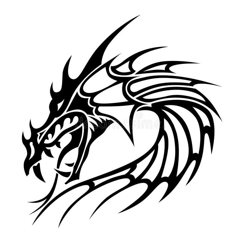 Dragon principal illustration de vecteur