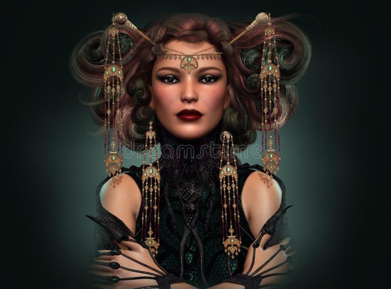 Dragon Queen, 3d CG illustrazione vettoriale