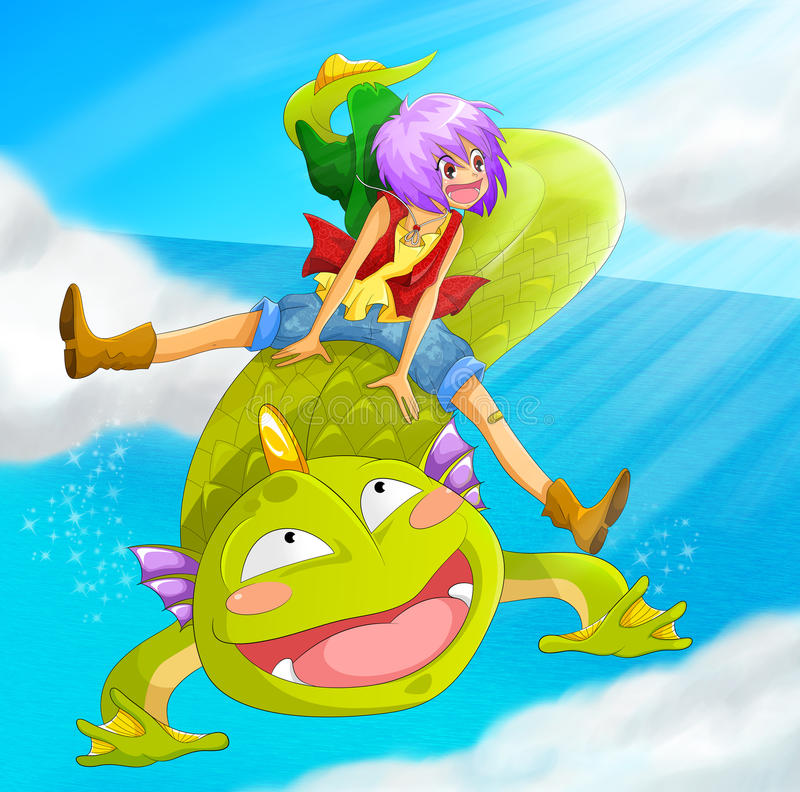 Download Dragon Ride Stock Photo - Image: 28417700