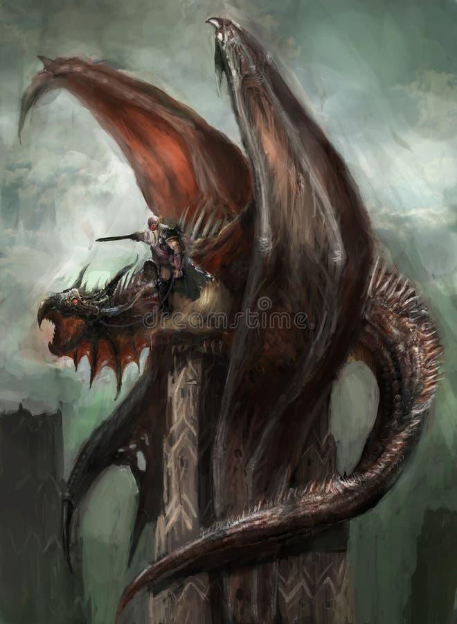 Free Dragon Rider Stock Image - 40933401