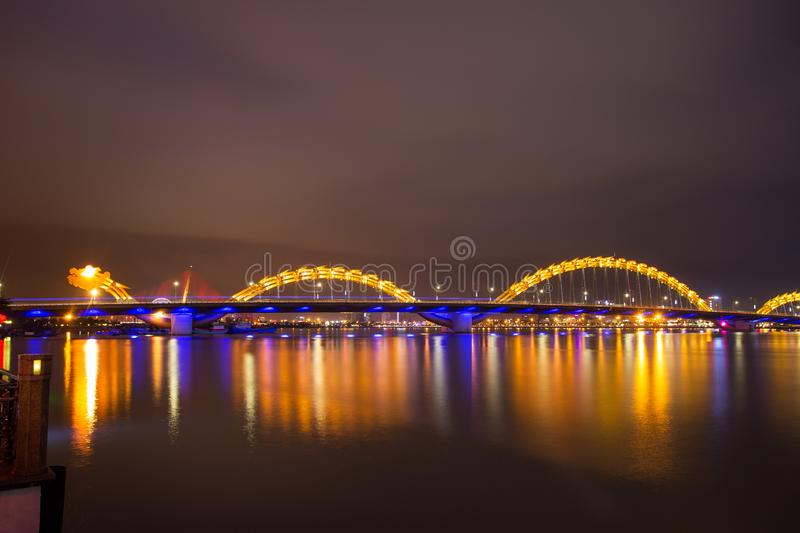 Dragon River Bridge Rong Bridge in Da Nang. Dragon River Bridge Rong Bridge in Da Nang, Vietnam stock images