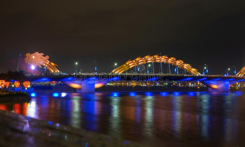 Dragon River Bridge ( Rong Bridge) in Da Nang, Vietnam. Dragon River Bridge ( Rong Bridge) in Da Nang architecture reflection vietnam danang royalty free stock photo