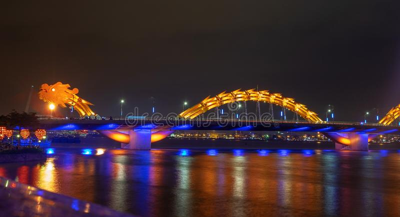 Dragon River Bridge ( Rong Bridge) in Da Nang, Vietnam. Dragon River Bridge ( Rong Bridge) in Da Nang architecture reflection vietnam danang royalty free stock photography