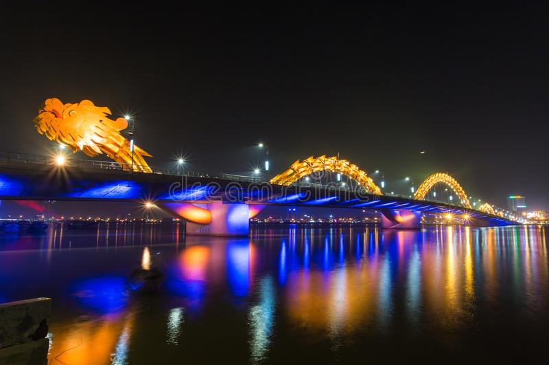 Dragon River Bridge. ( Rong Bridge) in Da Nang, Vietnam royalty free stock images