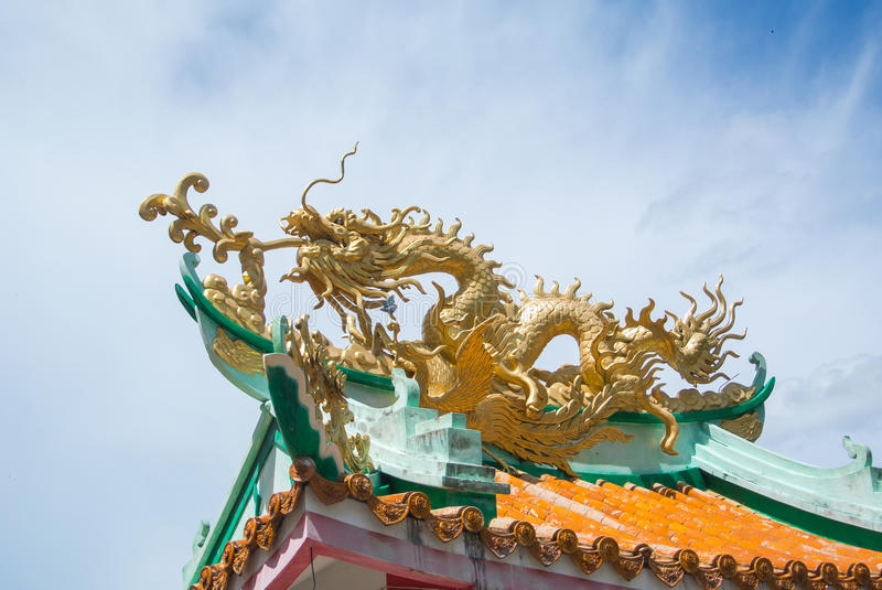 Dragon on roof royalty free stock photography
