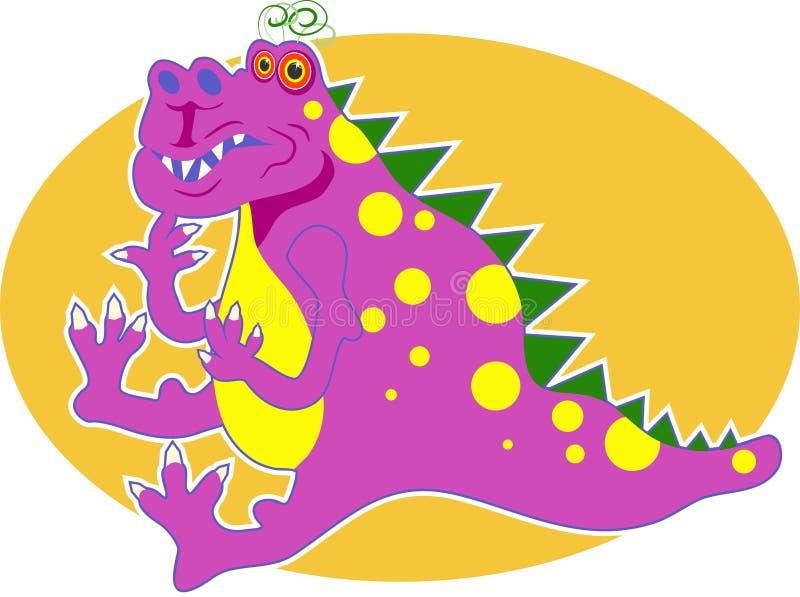 Dragon rose illustration de vecteur