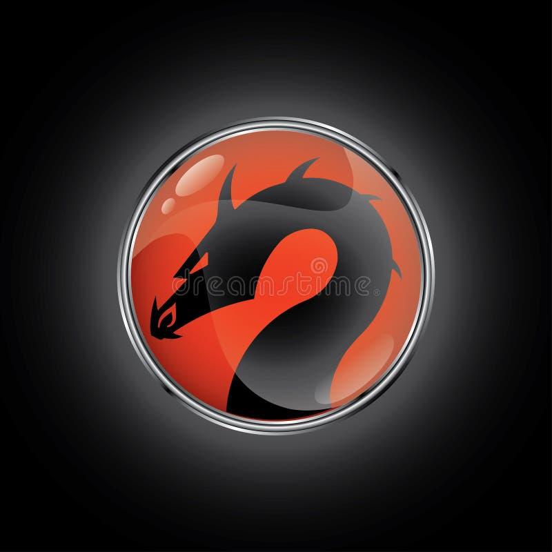 Dragon rouge illustration libre de droits