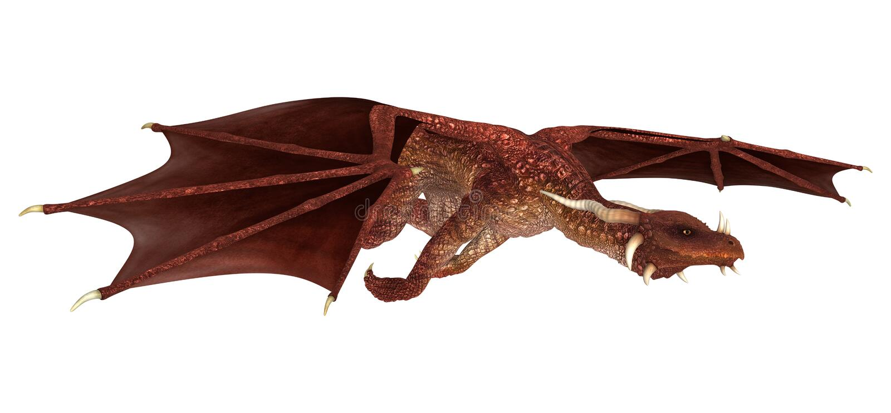 Dragon rouge illustration stock