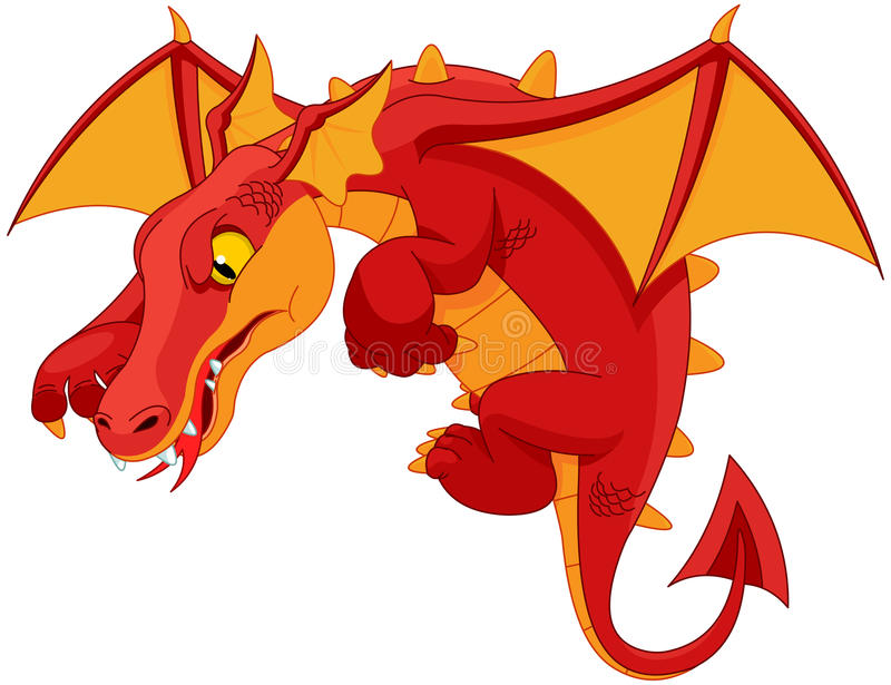 Dragon rouge illustration libre de droits