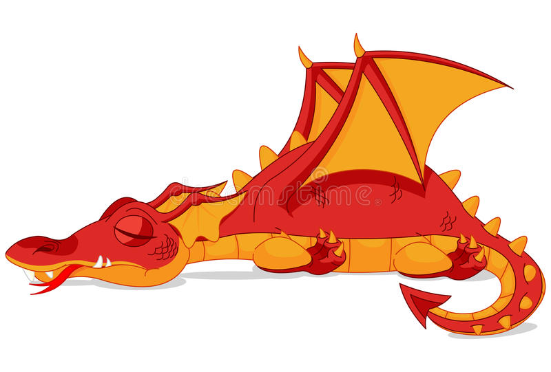 Dragon rouge illustration stock