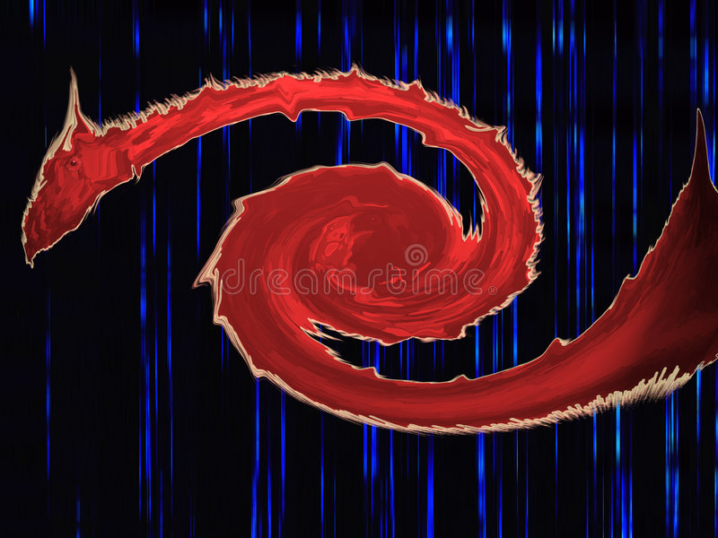 Dragon Rouge D Oeil Image stock