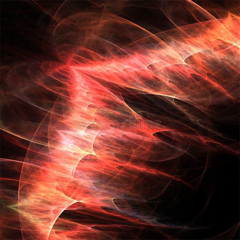 Dragon rouge de fractales d'abrégé sur art de fractale de calculateur numérique illustration libre de droits