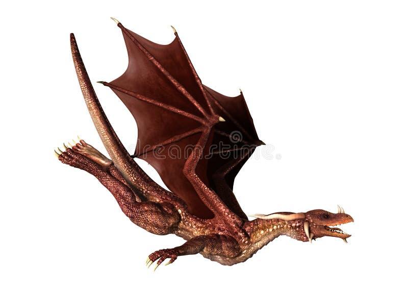 Dragon rouge sur le blanc illustration de vecteur
